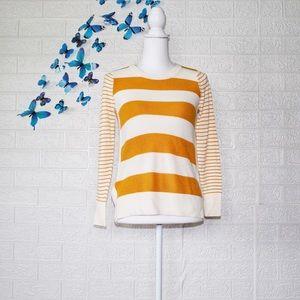 Loft striped long sleeve sweater striped